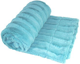 Boon Throw & Blanket Derby Double Sided Faux Fur Throw Blanket, Sky Blue