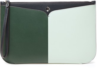 Kate Spade Nicola Large Two-tone Leather Pouch