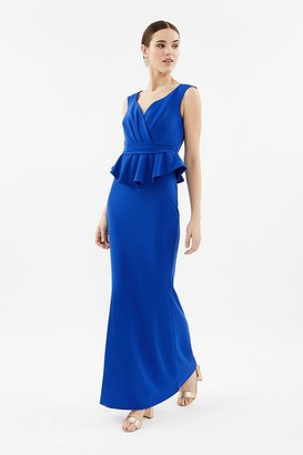 Coast V-Neck Peplum Waist Maxi Dress