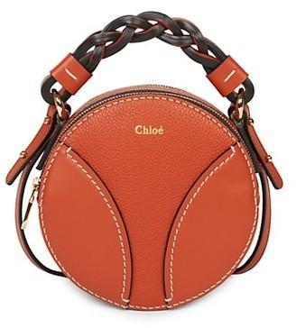 Chloé Mini Daria Round Leather Crossbody Bag