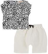 Amelia Infants' Floral Top & Mixed-Weave Pants