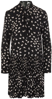 RED Valentino Black Short Dress With A Thousand Butterflies Print