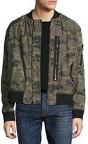 Hudson Camo Puffy Bomber Jacket, Green