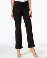 Style&Co. Style & Co Style & Co. Petite Curvy-Fit Straight-Leg Ankle Jeans, Bright White Wash