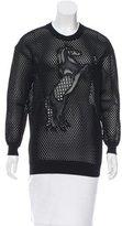 Stella McCartney Embroidered Mesh Sweatshirt