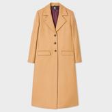 Paul Smith Women's Camel Wool-Cashmere Long Epsom Coat