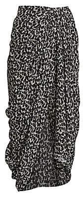 Isabel Marant Women's Candelia Silk Lurex Midi Skirt