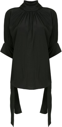 J.W.Anderson High Neck Tied-Cuffs Blouse