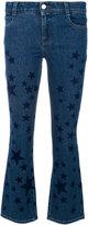 Stella McCartney star print kick flare jeans
