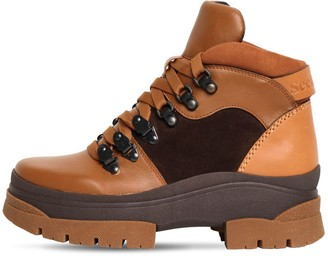 See by Chloe 30mm Leather & Suede Hiking Boots