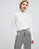 Gestuz Inesa Frill Placket Shirt