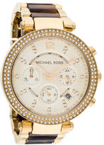 Michael Kors Crystal Parker Chronograph Watch