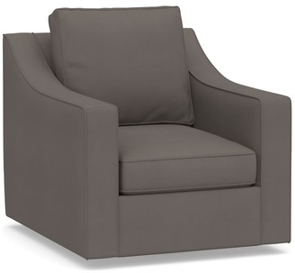 Pottery Barn Cameron Slope Arm Deep Seat Upholstered Swivel Armchair