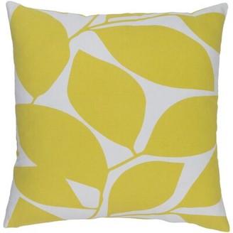 "Koval Square Cotton Throw Pillow Ebern Designs Size: 18"" H x 18"" W x 4"" D, Color: Aqua/Light Gray"