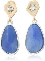 """Kenneth Cole New York True s"""" Geometric Crystal Semiprecious Faceted Stone Drop Earrings"""