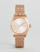 Nixon Rose Gold Medium Time Teller Watch