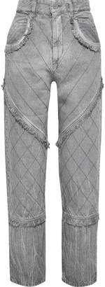 Isabel Marant Dorsys Frayed High-rise Straight-leg Jeans