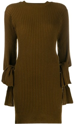 Maison Flaneur Long Ribbed Fitted Jumper