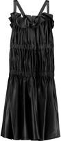 Ellery Cloudy Peak ruched silk-satin dress