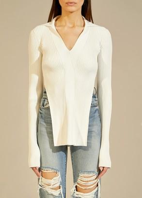 KHAITE The Lilia Sweater in Cream