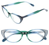 Corinne McCormack Women's Diana 53Mm Cat Eye Reading Glasses - Green/ Blue Fade