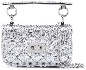 Valentino Spike.It metallic-effect shoulder bag