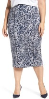 Melissa McCarthy Plus Size Women's Leopard Print Pencil Skirt