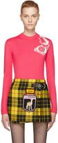 Miu Miu Pink Telephone Crewneck Sweater