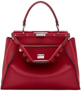 Fendi Red Studded Peekaboo Bag