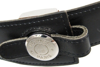 Hermes Black Leather Sellier Standard Belt 75 CM