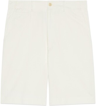 Gucci Cotton drill shorts with patch