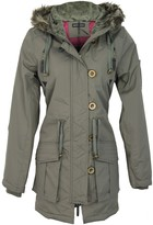 Thumbnail for your product : Brave Soul Womens Military Polyester Padded Parka Coat - Khaki - 8