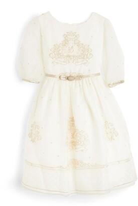 Lesy Royal Motif Dress (3-14 Years)