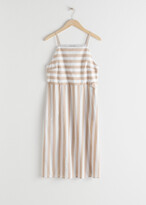 Thumbnail for your product : And other stories Striped Cotton Midi Dress