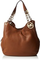MICHAEL Michael Kors Fulton Tan Leather Large Shoulder Tote