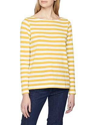 S'Oliver Women's 14.902.31.6577 Long Sleeve Top, (Blue Struc. Stripes 53h3), 18 (Size: )
