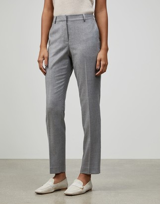 Lafayette 148 New York Wool-Silk Suiting Clinton Pant