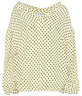 Balenciaga Swing Collar polka-dot crêpe blouse