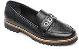 Bernardo Ozzy Textured Leather Loafers