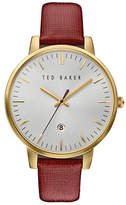 Ted Baker London Analog Two-Tone Leather Strap Watch
