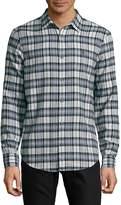 Original Penguin Men's Checkered Button-Down Shirt