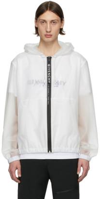 Givenchy White Transparent Windbreaker Jacket