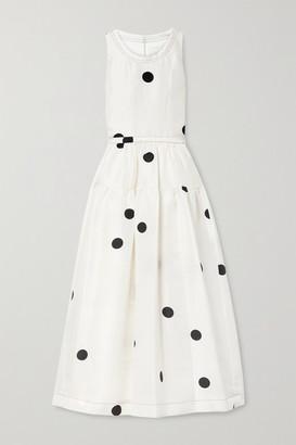 3.1 Phillip Lim - Belted Tiered Polka-dot Silk Midi Dress - White
