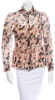 Moschino Cheap & Chic Moschino Cheap and Chic Sheer Button-Up Top