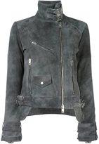 Diesel 'Lelia' biker jacket - women - Goat Skin/Polyester - L