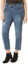 Evans Plus Size Women's Floral Patch Boyfriend Jeans