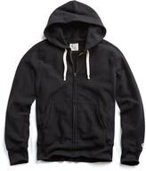 Todd Snyder + Champion Fleece Full Zip Hoodie in Black