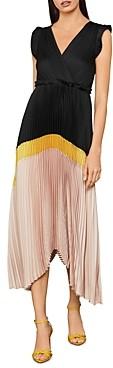 BCBGMAXAZRIA Pleated Asymmetrical Dress