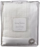 Living Textiles Essentials Cellular Cot Blanket, WhiteO