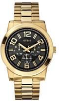 GUESS Men's U0264G2 Self Assured Gold-Tone Multi-Function Watch